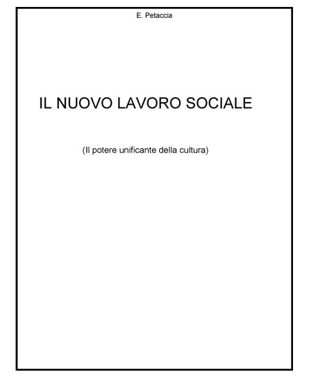 Il nuovo lavoro sociale